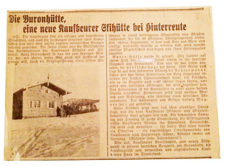 Historie Buronhutte
